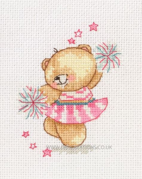 Forever Friends Little Cheerleader Cross Stitch Kit